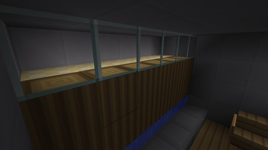 Put glowstone in a location you can't see it, and let the light shine through glass